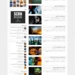 پیش نمایش قالب فارسی واکنش گرا مجله خبری Voxis برای وردپرس