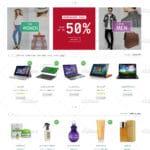 نسخه 3 صفحه اصلی در قالب فروشگاهی مارکت شاپ