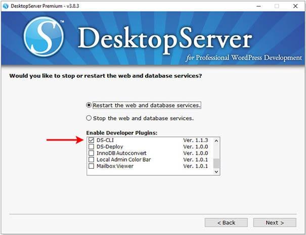 فعال کردن wp-cli در دسکتاپ سرور