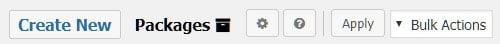 کلیک روی دکمه create new در افزونه duplicator برای ایجاد بسته ی جدید